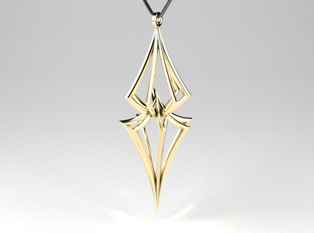 Colliding Stars - Pendant in Polished Brass (Interlocking Parts)