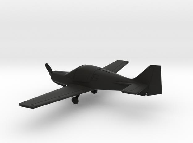 Scottish Aviation Bulldog in Black Natural Versatile Plastic: 1:100