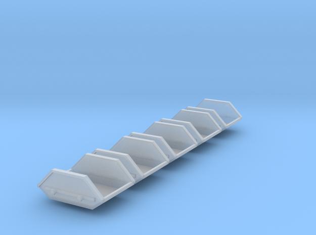5x Mulde-3qm (1/220) in Smooth Fine Detail Plastic