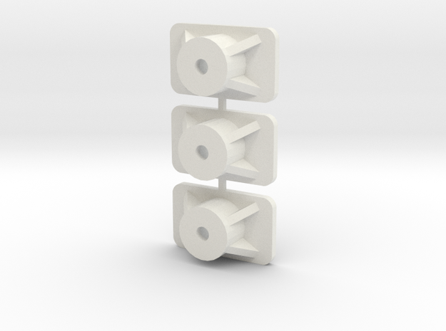 Tamiya Ascona front mounts A13 in White Natural Versatile Plastic