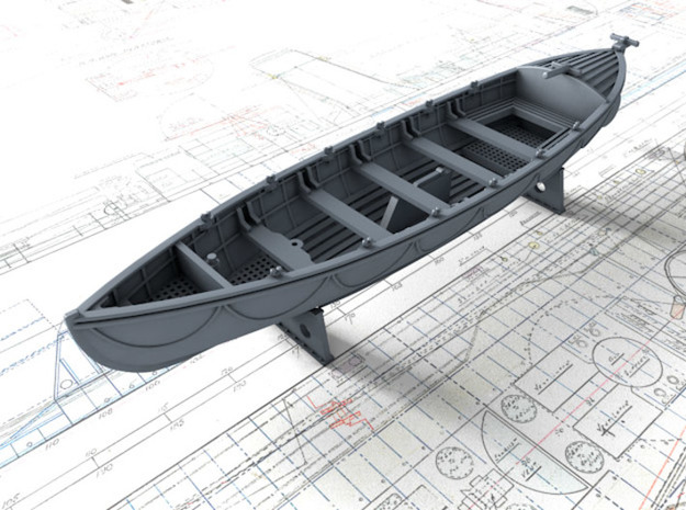 1/87 Royal Navy 27ft Whaler in Smooth Fine Detail Plastic