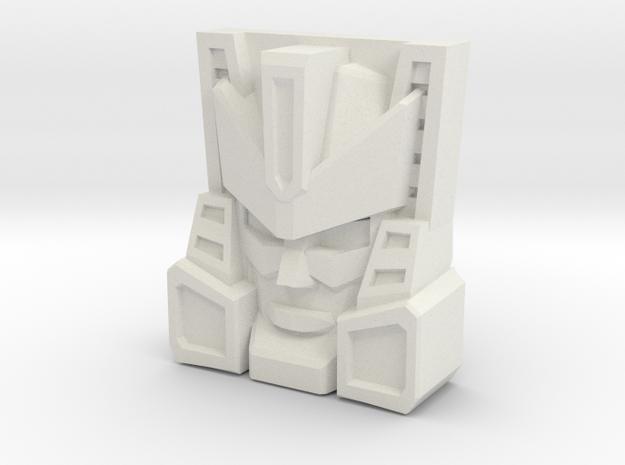 Brushguard Face (Titans Return/PoTP) in White Natural Versatile Plastic