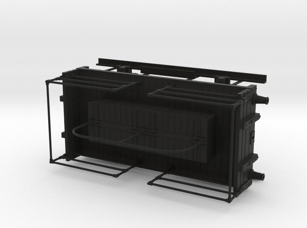 Midland Rly/LMS/British Rlys shunter truck with ha in Black Natural Versatile Plastic