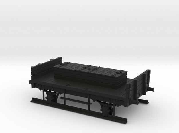 MR/LMS shunter truck with no rails in Black Natural Versatile Plastic