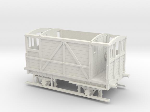 Furness Railway/LMS/British Railways 10-12ton Brak in White Natural Versatile Plastic