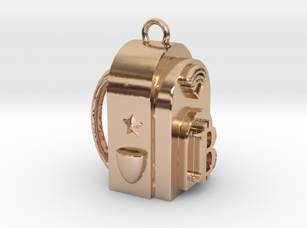 Billion Dollar Bag Vibe Medium in 14k Rose Gold Plated Brass: Medium