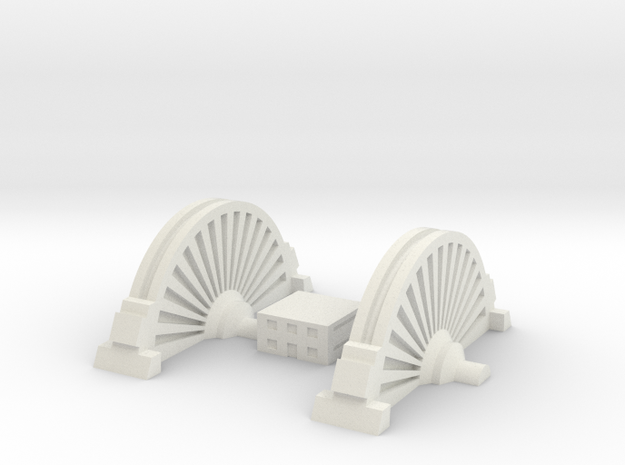 Sci-Fi Generator 01 in White Natural Versatile Plastic: 1:450 - T