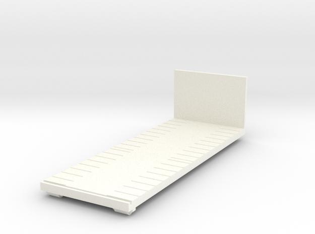 Krok Maskinflak Kort 135mm tekno in White Processed Versatile Plastic