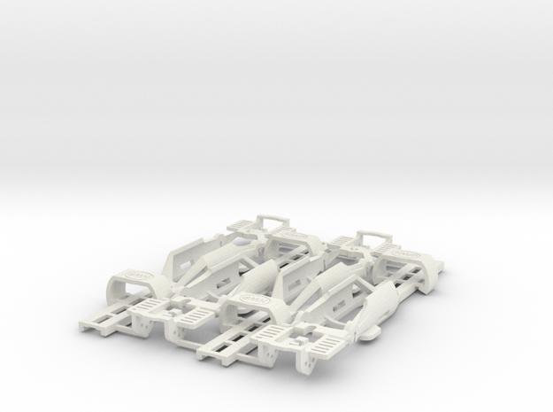 NEW 4-PACK! HO Slot Car Chassis - SL2-Mk4 in White Natural Versatile Plastic
