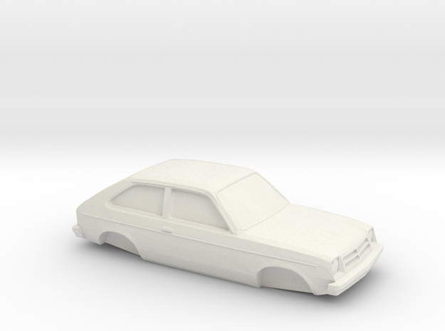 1/32 1975-82 Chevrolet Chevette Shell in White Natural Versatile Plastic