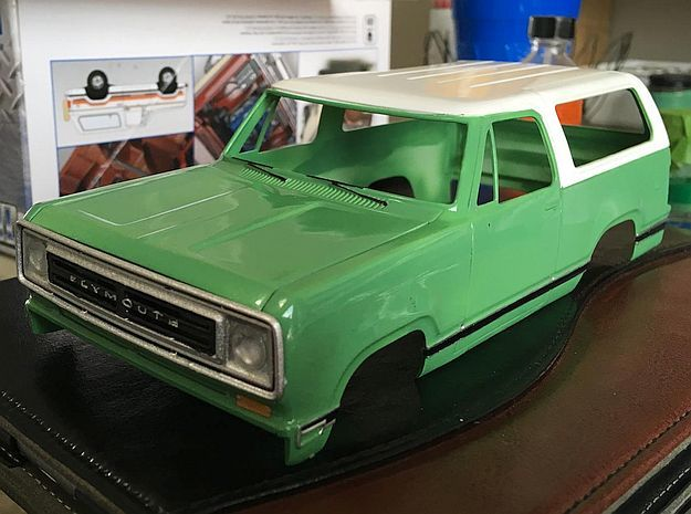 1/24 1974 Plymouth Trailduster Grill in Smoothest Fine Detail Plastic