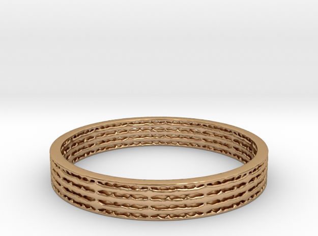 Ridged Band in Polished Bronze: 10 / 61.5