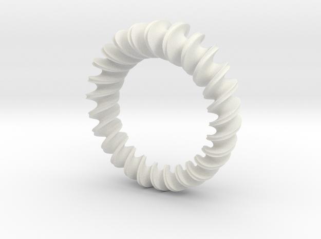 Pendant #1B in White Natural Versatile Plastic