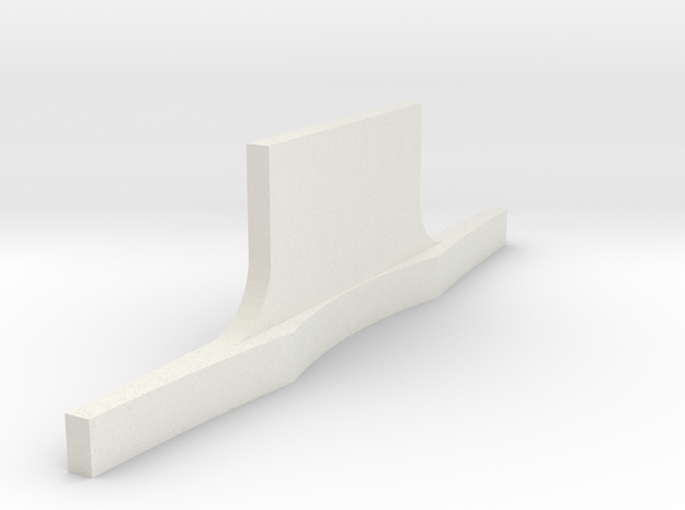 Rear bumper Revell Compatable in White Natural Versatile Plastic