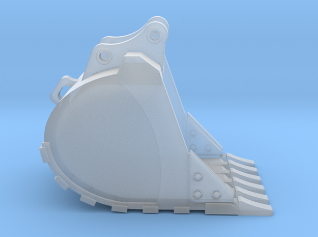 """1:50 48"""" Bucket for 20 Ton excavator models.  in Smooth Fine Detail Plastic"""