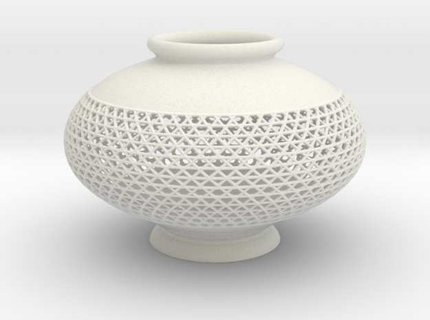 Vase 1005B in White Natural Versatile Plastic
