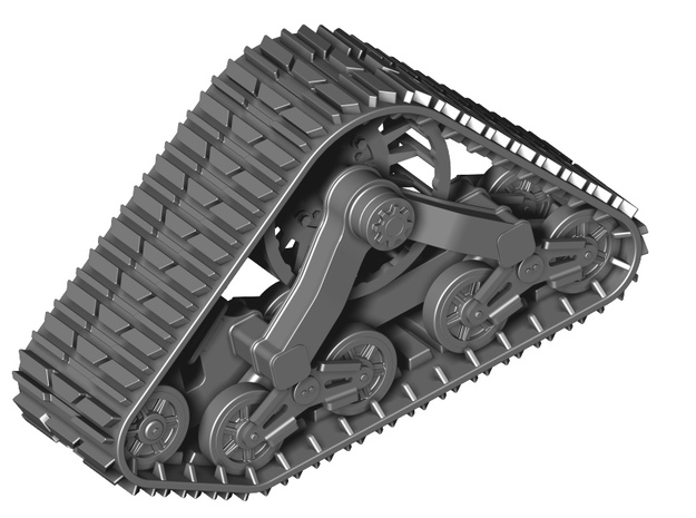 Track set for Wheeled Vehicles in Smooth Fine Detail Plastic: 1:35