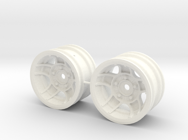 M-Chassis Wheels - NSU-TT ATS Style - +5mm Offset in White Processed Versatile Plastic
