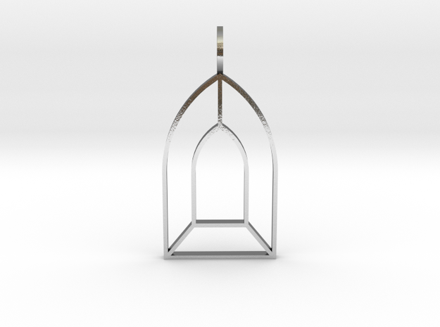 Sanctuary of the Mystics in Polished Silver