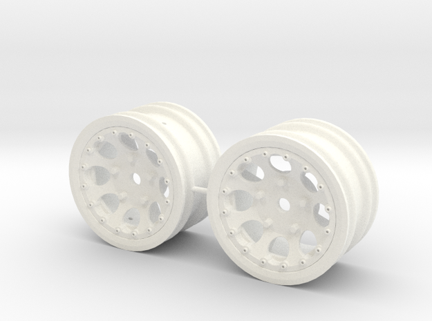 M-Chassis Wheels - NSU-TT Spiess Style - 0mm Offse in White Processed Versatile Plastic