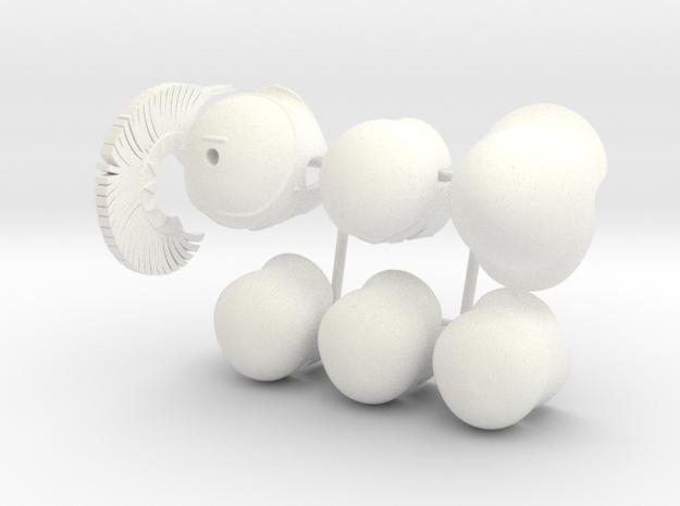 ETHAN 10 in White Processed Versatile Plastic