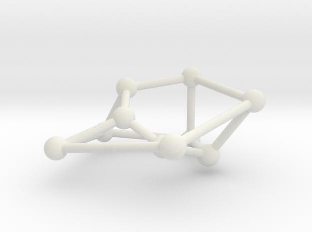 Möbius ladder M_10 in White Natural Versatile Plastic