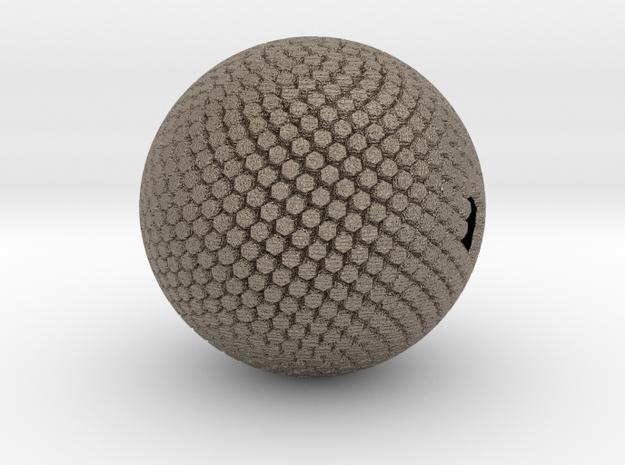Fibonacci Sphere, large in Matte Bronzed-Silver Steel
