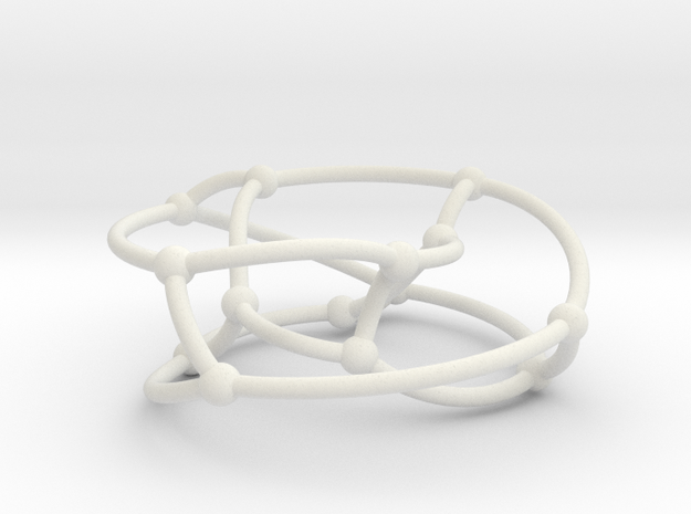 Heawood graph on torus in White Natural Versatile Plastic