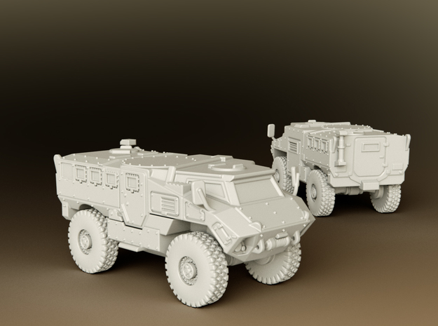 MRAP RG35 MIV Scale: 1:100 in Smooth Fine Detail Plastic