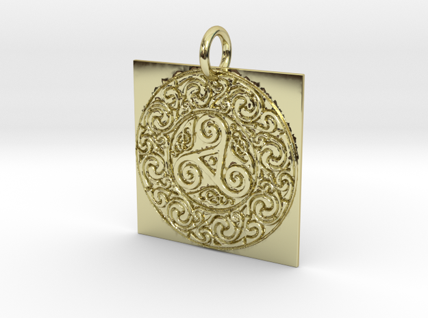 Pagan Geometry in 18k Gold Plated Brass: Extra Small