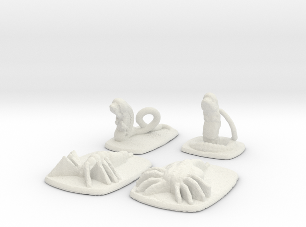 Xeno Spawner - Stages 1 & 2  in White Natural Versatile Plastic: 15mm
