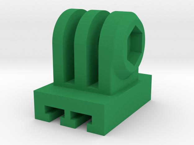 GoPro Cam to Contour Mount Adapter (Forward Tiltin in Green Processed Versatile Plastic