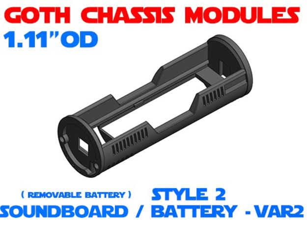 GCM111 - Soundboard Lightsaber Chassis Var2 St2 in White Natural Versatile Plastic