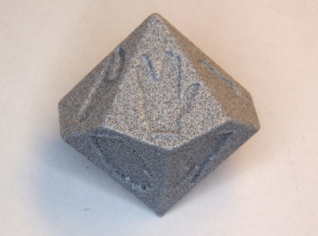 Dice for extended rock-paper-scissors (D10/D5) 3d printed