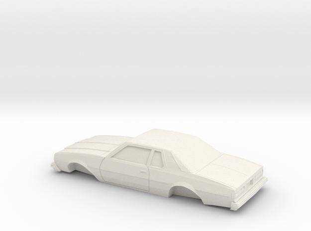 1/25 1977-78 Chevrolet Impala Coupe in White Natural Versatile Plastic