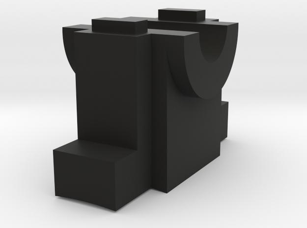 part MVDW v1 in Black Natural Versatile Plastic