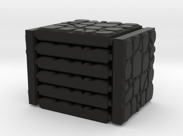 3 x 3 Gravel Rocks Set in Black Natural Versatile Plastic