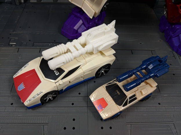 TF CW Breakdown Car Cannon Seige Compatible in White Natural Versatile Plastic