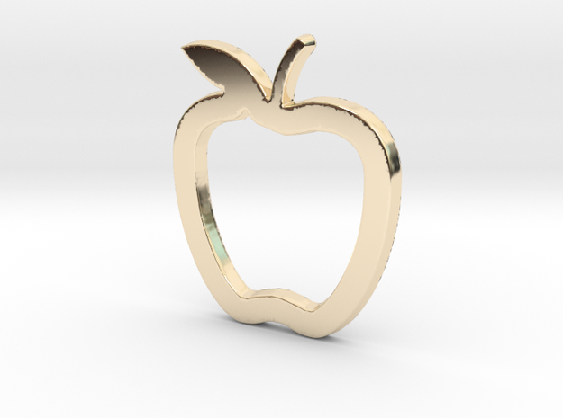 Weight Loss diet Apple Fruit Pendant for Women in 14K Yellow Gold