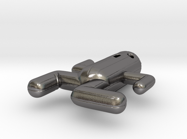 Cactuar Pendant in Polished Nickel Steel