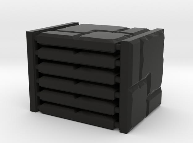 Uneven Stone Set in Black Natural Versatile Plastic