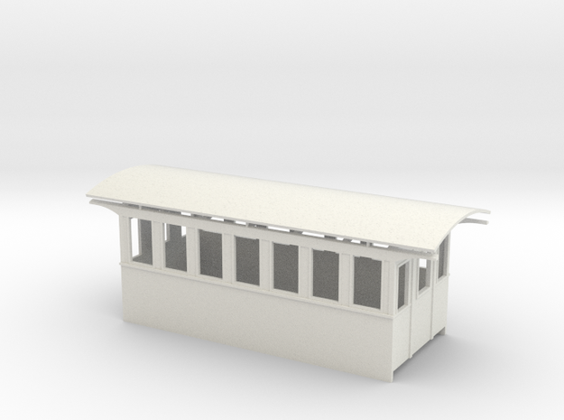 20' Smooth Side passenger Car On30 in White Natural Versatile Plastic