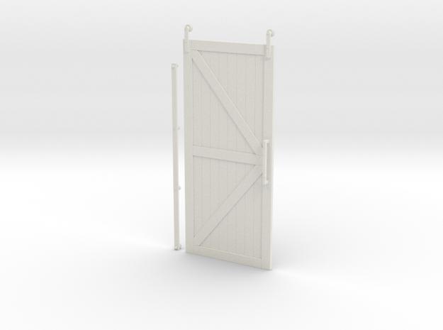 """Barn Door 7""""H x 3.125""""W in White Natural Versatile Plastic"""