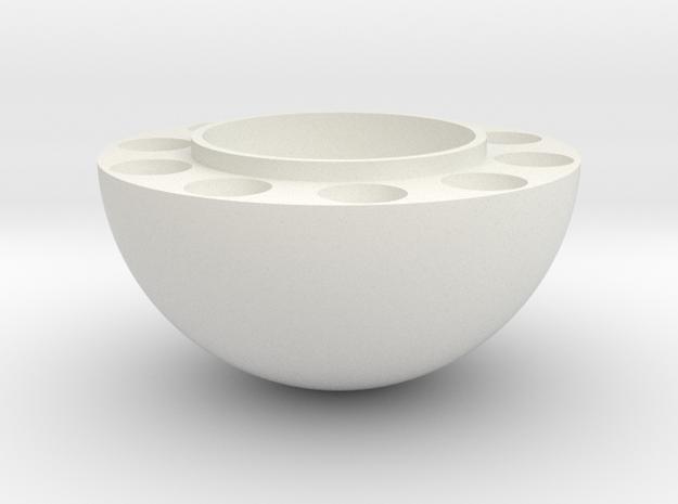 Sphere Top Half in White Natural Versatile Plastic