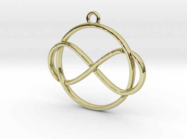 Infinite and circle intertwined in 18k Gold Plated Brass