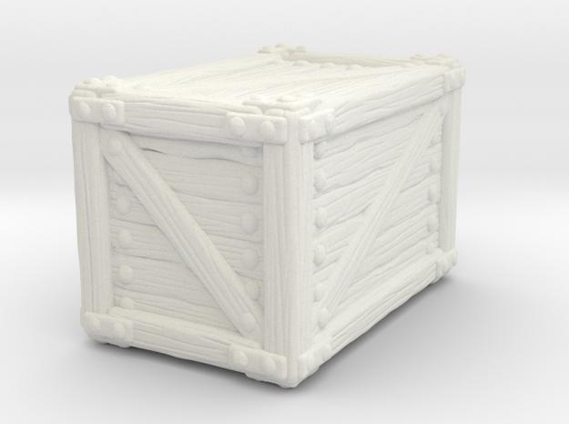 Big Crate A in White Natural Versatile Plastic