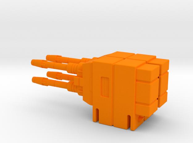 Starcom Shadow Upriser - Big Cannon (both sides) in Orange Processed Versatile Plastic