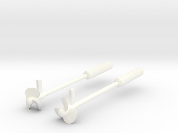 Thetis / Najade, propellers static model (1:200)