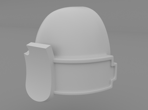 Pauldron_05 in Smooth Fine Detail Plastic