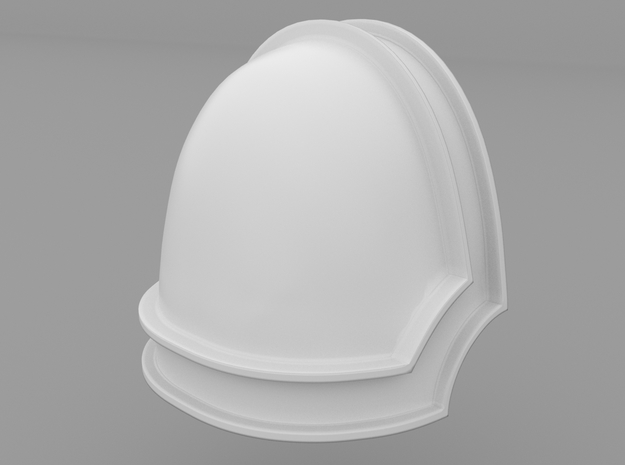 Pauldron_33 in Smooth Fine Detail Plastic